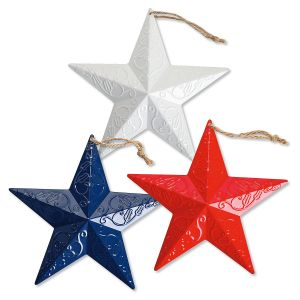 "Patriotic 8"" Large Metal Stars"