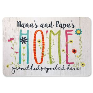 Personalized Welcome Grandparents Doormat