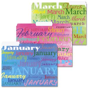 Designed Monthly File Folders