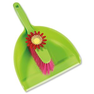 Flower Dust Pan and Brush Set