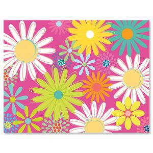 Pink Daisy Note Cards - BOGO