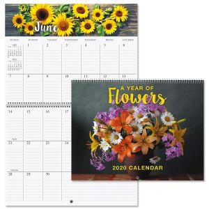 2020 A Year of Flowers Big Grid Planning Calendar