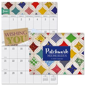 2020 Patchwork Memories Big Grid Planning Calendar with Pockets