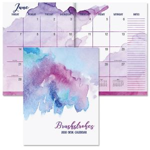 2020 Deluxe Brush Strokes Desk Calendar