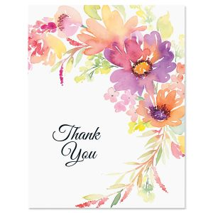 Spring Blossom Thank You Note Cards