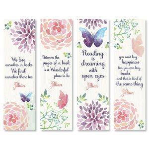 Personalized Butterfly Bookmarks