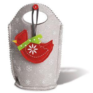 Cardinal Ornament Felt Bags