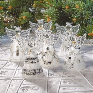 Sparkle Glass Angel Ornaments