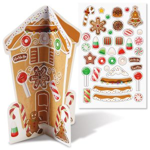 Build-a-3D Gingerbread House