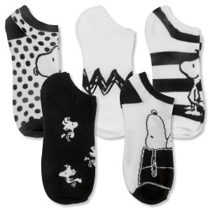 PEANUTS® Socks in Black & White