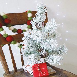Flocked Mini Christmas Tree