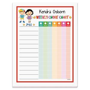 Personalized Chore Chart Pad