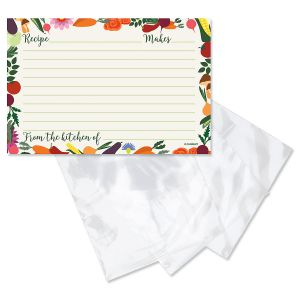 Veggie Delight Recipe Cards and Saver Sleeves Gift Set