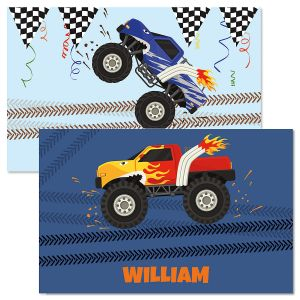 Monster Truck Personalized Kids' Placemat