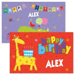 Personalized Birthday Buddies Kids' Placemat