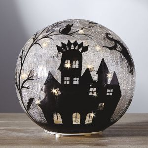 LED-Illuminated Halloween Orb
