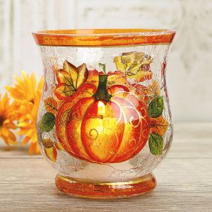 Glass Pumpkin Votive