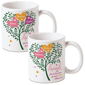 Joy to the Heart Personalized Friends Mug