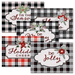 White Plaid Note Cards