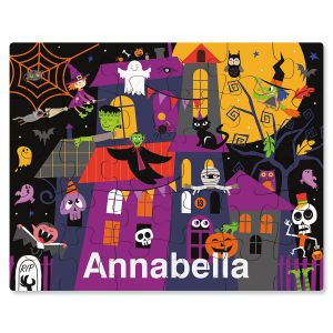 Personalized Haunted House Halloween Puzzle