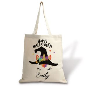 Kids' Personalized Halloween Unicorn Tote