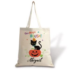 Kids' Personalized Halloween Jack-o'-Lantern Tote