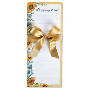 Sunflower Lined List Pads - BOGO