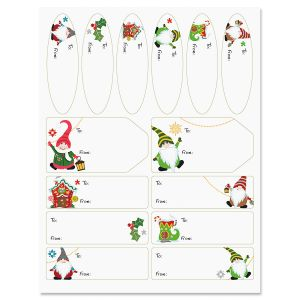 Joyful Gnomes Christmas Gift Labels