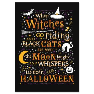 Witches Go Riding Halloween Cards