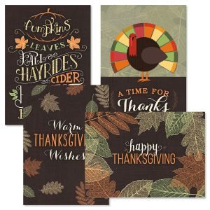 Textures of Thanksgiving Cards
