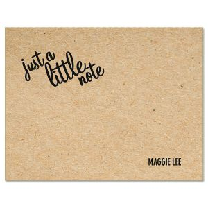 Just A Note Personalized Note Cards