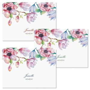 Magnolia Personalized Note Cards