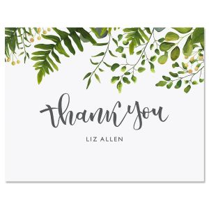 Hanging Leaves Personalized Note Cards