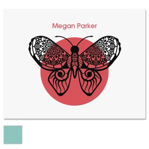 Print Butterfly Personalized Note Cards