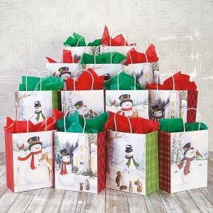 Snowman Chums Gift Bags