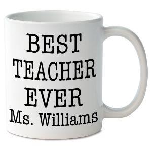 Best Teacher Ever Personalized Mug