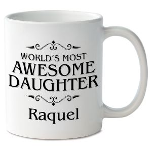 World's Most Awesome Daughter Personalized Mug