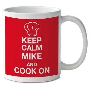 Keep Calm and Cook On Personalized Mug