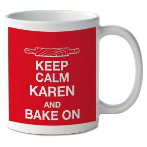 Keep Calm and Bake On Personalized Mug