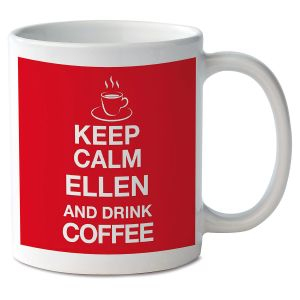 Keep Calm and Drink Coffee Personalized Mug