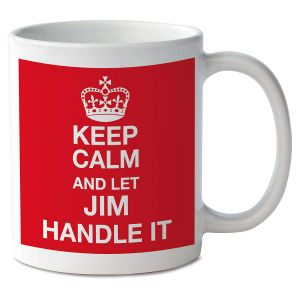 Keep Calm and Let Handle It Personalized Mug