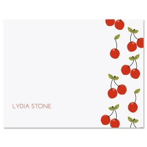 Cherry Parade Personalized Note Cards