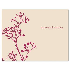 Babys Breath Personalized Note Cards