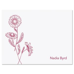 Wild Daisies Personalized Note Cards