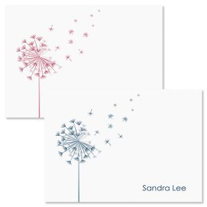 Wispy Dandelion Personalized Note Cards