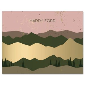 Golden Range Personalized Note Cards