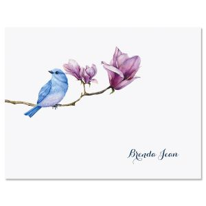 Magnolia Bird Personalized Note Cards