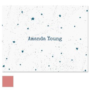 Galaxy Personalized Note Cards