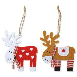 Felt Reindeer Christmas Tie Ons