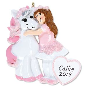 Princess & Unicorn Personalized Ornament